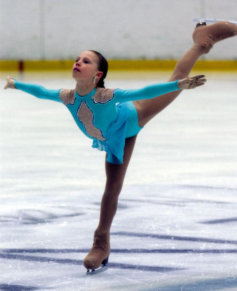 Юная Женя на соревнованиях