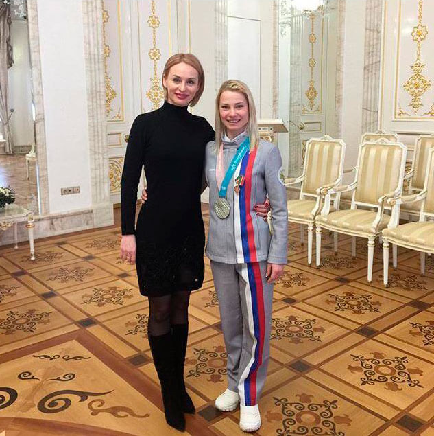 Евгения Тарасова и Т.Е.Александрова  после встречи с Президентом Республики Татарстан  Р.Н.Миннихановым