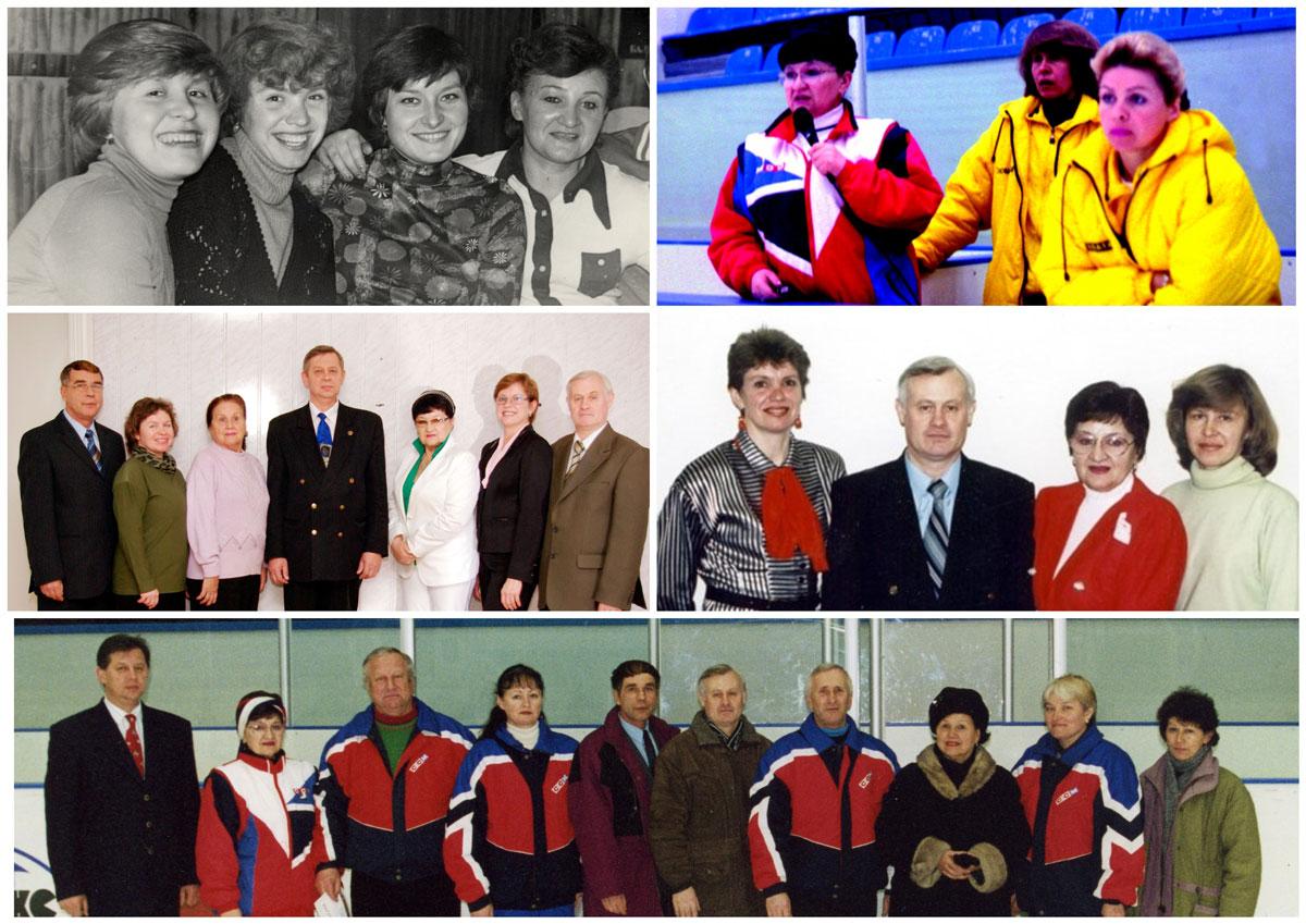 Гурикова Д.В. с коллегами. Фото разных лет.