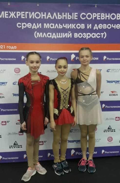 Финалистки соревнований по старшей группе: Дина Хуснутдинова, Инга Никитина, Зарина Кашапова